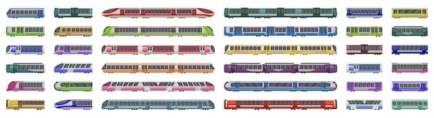 Ilustração em vetor trem metrô no fundo branco