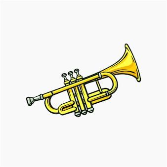 Ilustração em vetor trompete cartoon clipart