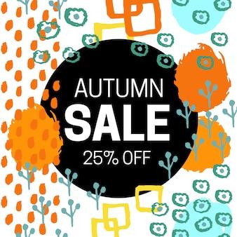 Ilustração em vetor venda outono