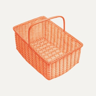 Ilustração em vetor vintage cesta de lavanderia, remixada da arte de orville a. carroll