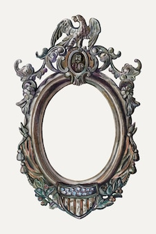Ilustração em vetor vintage moldura, remixada da arte de katherine hastings