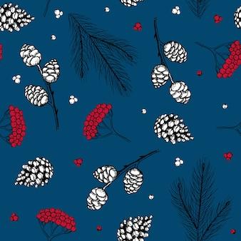Ilustração em vetor vintage natal