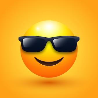 Ilustração emoji de rosto com óculos de sol