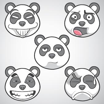Ilustração emoticon panda
