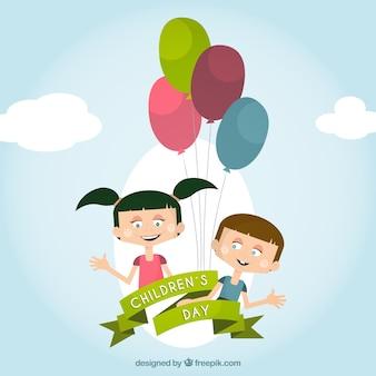 Ilustração engraçada do dia das crianças
