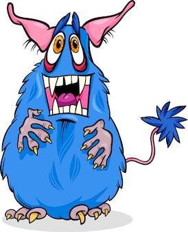 Ilustração engraçada do monstro dos desenhos animados