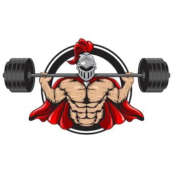 Ilustração espartana de fitness