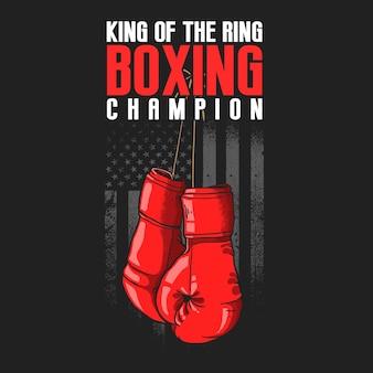 Ilustração esporte de luvas de boxe americanas