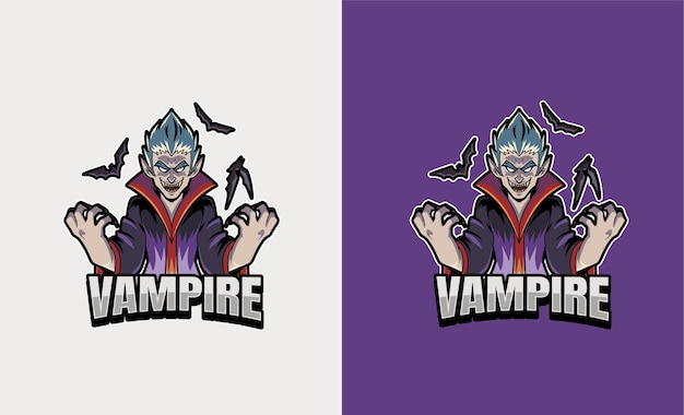 Ilustração esportiva de mascote vampiro