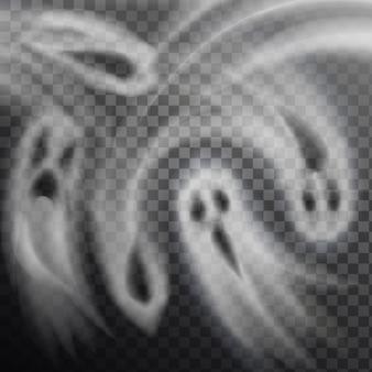 Ilustração fantasmas fundo transparente