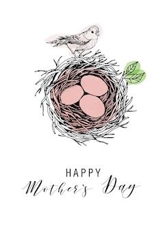 Ilustração feliz dia das mães