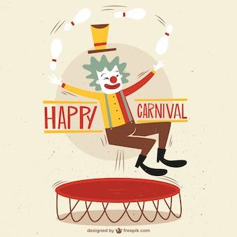 Ilustração feliz do carnaval com um palhaço