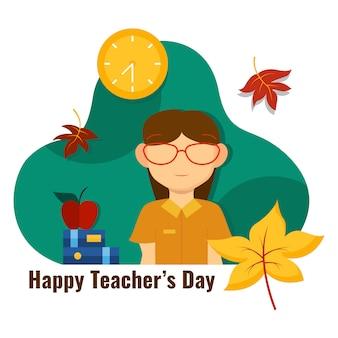 Ilustração feliz do dia do professor