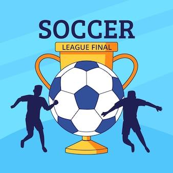Ilustração final da liga de futebol desenhada à mão