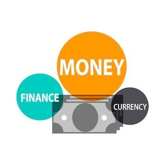 Ilustração, financeiro, conceito