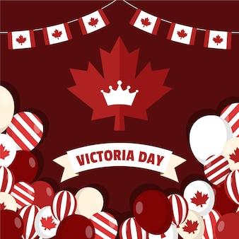Ilustração flat canadian victoria day