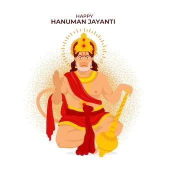 Ilustração flat hanuman jayanti