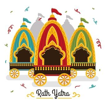 Ilustração flat rath yatra