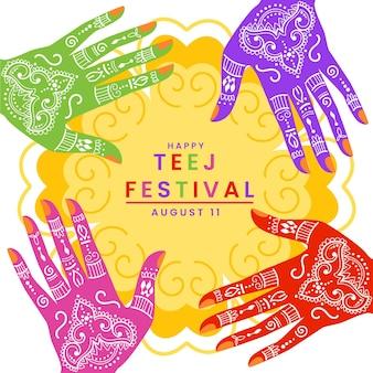 Ilustração flat teej festival