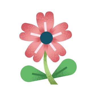 Ilustração floral com flores abstratas