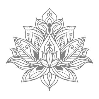 Ilustração floral de lótus para decoração