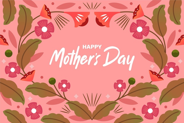 Ilustração floral do dia das mães