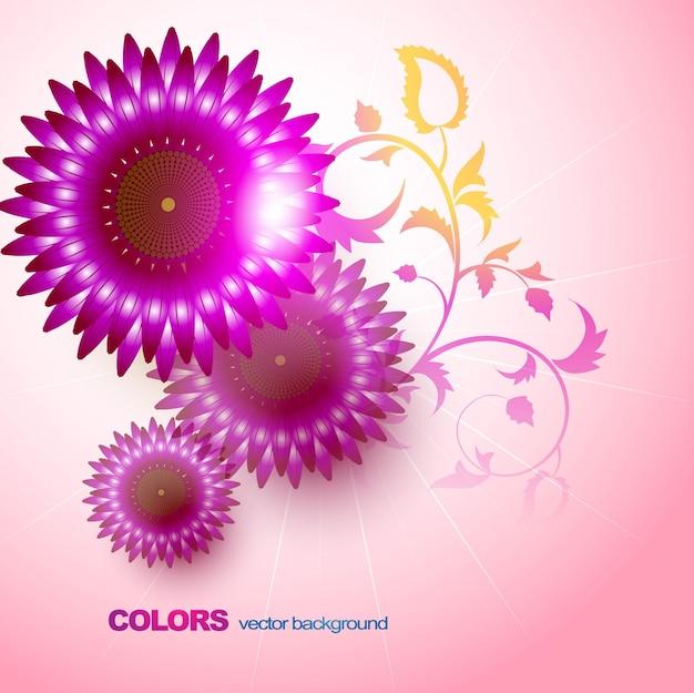 Ilustração florida do projeto do fundo da flor