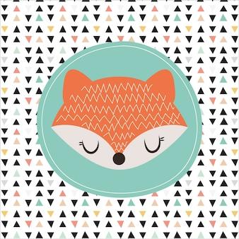 Ilustração fofa de raposa