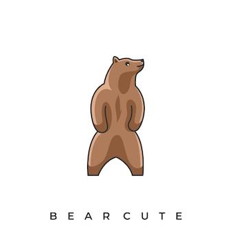 Ilustração fofa de urso