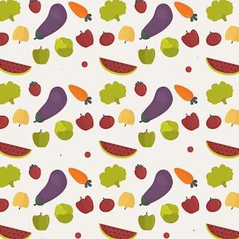Ilustração fofa do dia vegetariano
