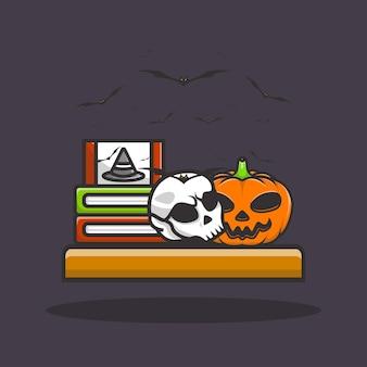 Ilustração fofa ícone do conceito de halloween