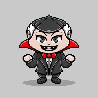 Ilustração fofa vampiro