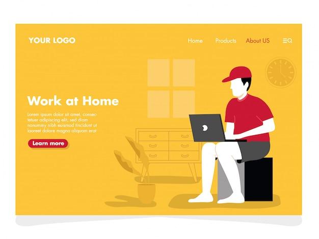Ilustração freelancer de homem para página de destino
