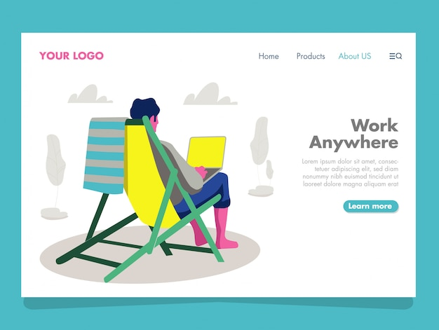 Ilustração freelancer para página de destino