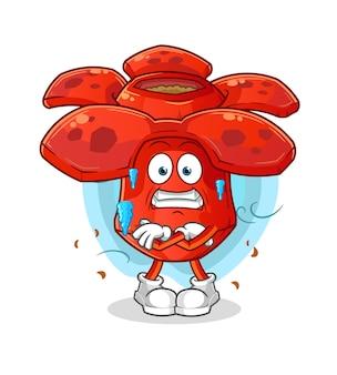 Ilustração fria de rafflesia. mascote dos desenhos animados