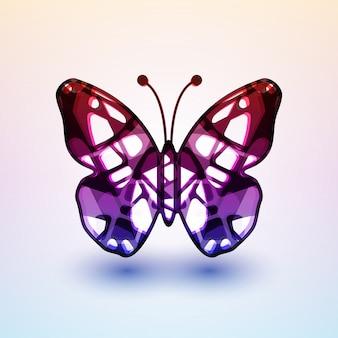 Ilustração futurista abstrata de borboleta