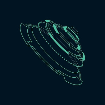 Ilustração futurista da interface do usuário