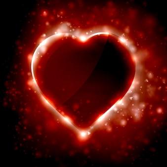 Ilustração futurista do coração