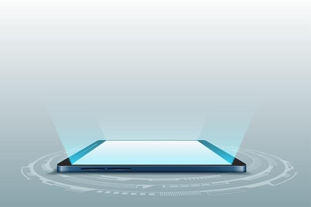 Ilustração futurista do vetor do telefone móvel