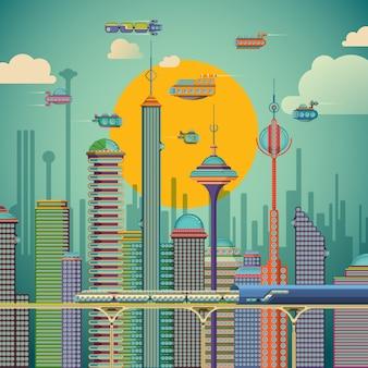 Ilustração futurista