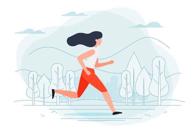 Ilustração - garota correndo
