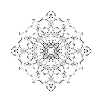 Ilustração geométrica abstrata do livro da página da coloração do arabesque da mandala. camiseta . fundo de papel de parede floral