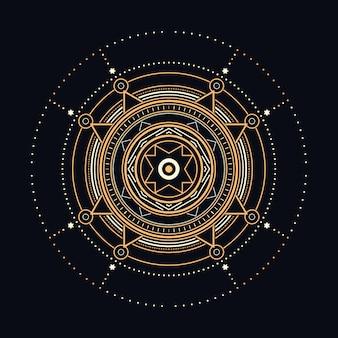 Ilustração geométrica sagrada abstrata