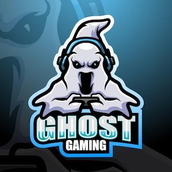 Ilustração ghost gaming mascot esport