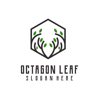 Ilustração gradiente colorida do logotipo da octagon