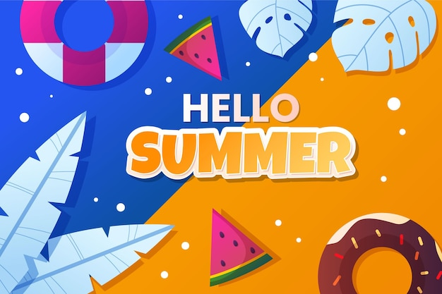 Ilustração gradiente de verão