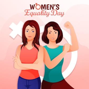Ilustração gradiente do dia da igualdade feminina