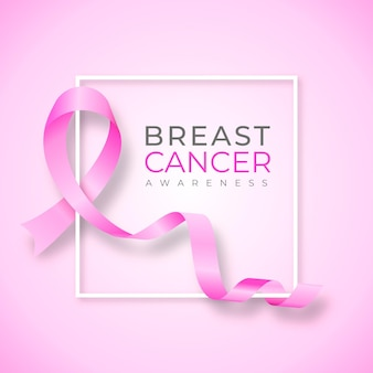 Ilustração gradiente do mês de conscientização do câncer de mama