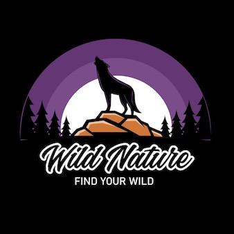 Ilustração gráfica da natureza selvagem