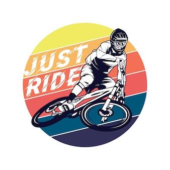 Ilustração gráfica de downhill bike